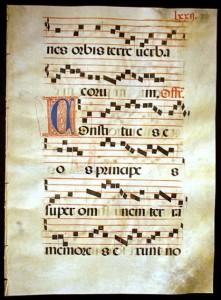 Gregorian Chant Musical Manuscript