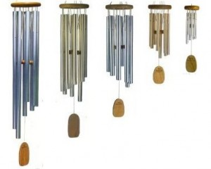 Gregorian Wind Chimes Woodstock Set of Baritone, Tenor, Alto, Soprano and Sopranino
