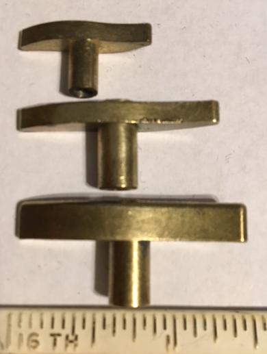 Reuge winding keys - side view
