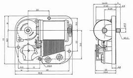 18 note Sankyo mechanism dimensions