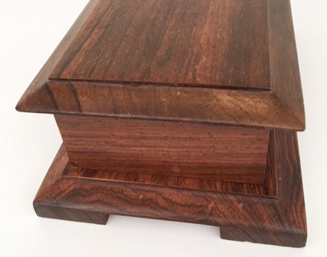 Side view of Kohaut Cocobolo 36 note music box