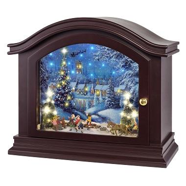 Mr Christmas Winter Skating Scene Music Box For Christmas Mantel