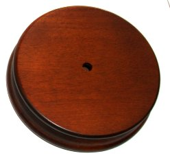 Round Wood Base with Hole 4  1/2  (no movement) For Carousel Horse