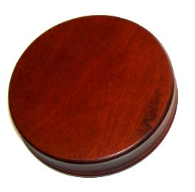 Round Wood Base 5 1/4  (no movement) Build Your Own