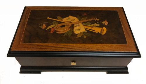 Renaissance Instruments on Walnut Music box plays 3.72 Reuge Mechanism