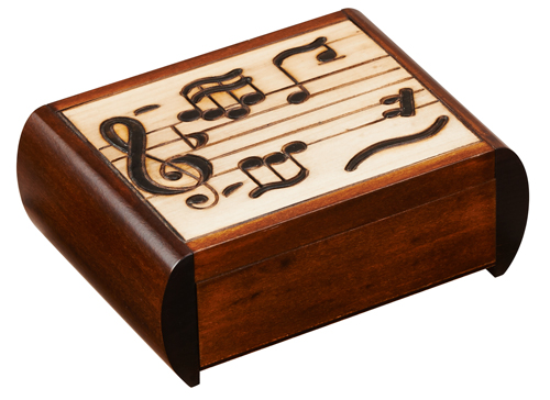 Silent Trick Box with Musical Notes