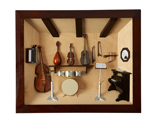 Music Studio Framed Diorama