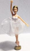 Brunette Ballerina with net tutu