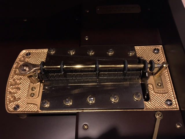 "Baroque 15.5"" Disc Player Mechanism (close up view)"
