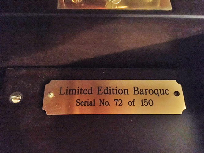 Baroque Brass Plate Limited Edition