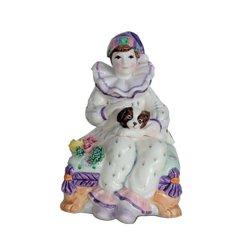 Clown Sitting on Cushion