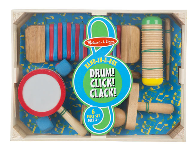 melissa doug band in a box drum click clack. Black Bedroom Furniture Sets. Home Design Ideas