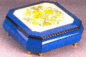 Floral Inlaid Jewelry Box - 8.5inch square
