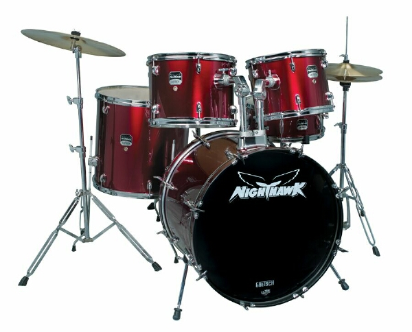 Wine Red Gretsch NightHawk Drum Set