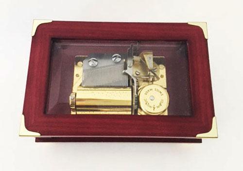 Jobin campaign style mahogany and glass ,imusic box 1.36