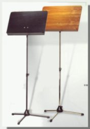 Professional music metal music stands with solid wood desks