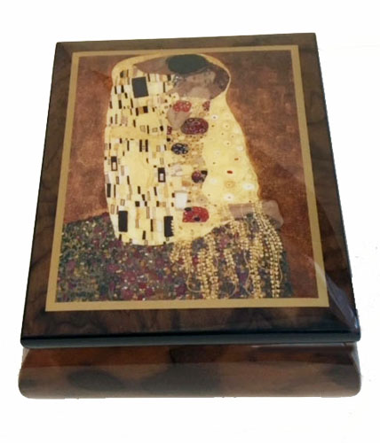 "Gustav Klimt""s The Kiss on Music Box from Ercolano"