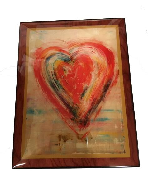 Love on a Rainy Day Music Box (painting of rainy heart)