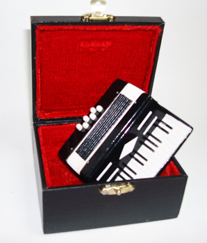 Miniature Black Accordion