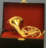 Miniature French Horn 6.5 wit Case