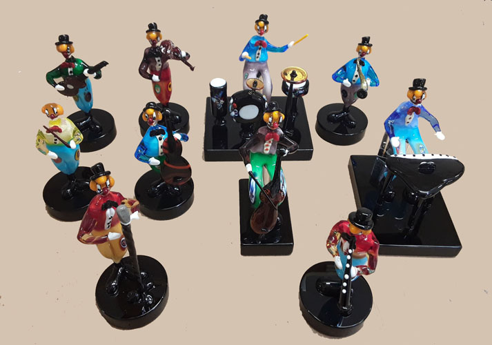 Murano Glass Musician Figurines