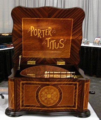 Porter Disc Player Music Box - Porter Titus Serpentine 15 1/2 (15.5)
