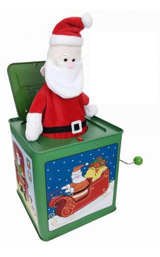 musical jack in the box santa. Black Bedroom Furniture Sets. Home Design Ideas