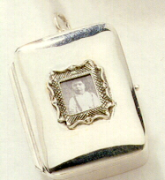 Silver pendant photo frame music box aloadofball Image collections