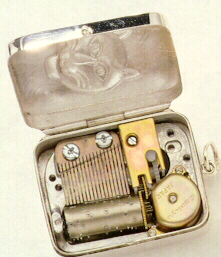 INSIDE VIEW of Silver Pendant Music Boxes