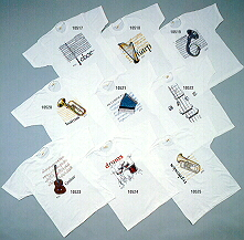 T-Shirts with your choice of musical Instrument