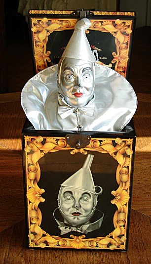 Vintage Wizard of Oz Tin Man In Music Box