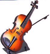 Vintage Musical Violin and Bow by Reuge (1.18)