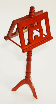 Miniature Music Stand with Double Desk for Dollhouse Music Room