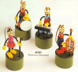 Petra Wooden Musician Press Puppets
