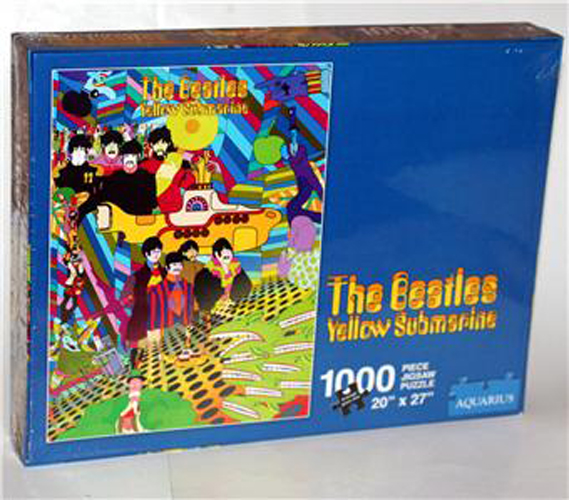 back side of Beatles Yellow Submarine Jigsaw Puzzle