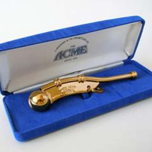 Acme boatswain Whistle Gold Plated in Presentation Box