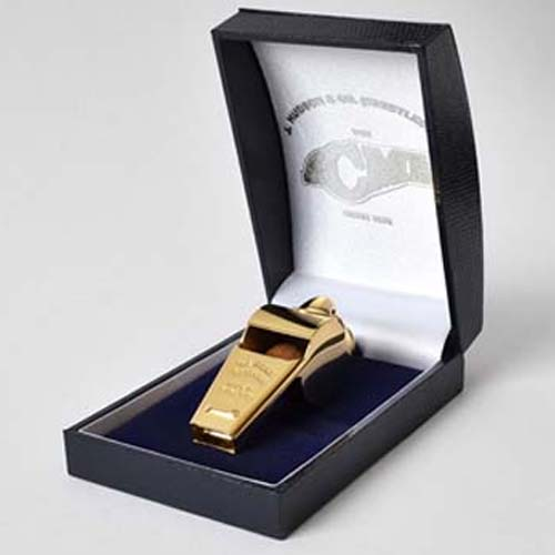 Acme Thunderer 60.5 Gold Plated Whistle high pitch for presentation