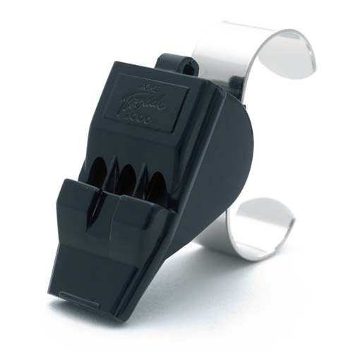 Acme Whistle with Finger Grip Black