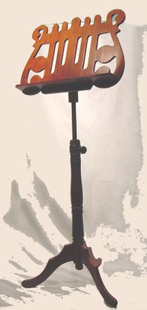 Flat Carved  Wooden  Music Stand