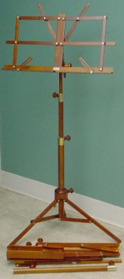 PORTABLE Wooden  Music Stand and Bag