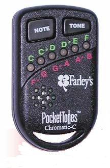 Farley Pocket Tone Tuner on Keychain