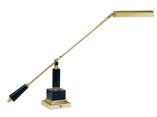 Lamp with Counter balanced Brass Side Arm on Black Marble Base