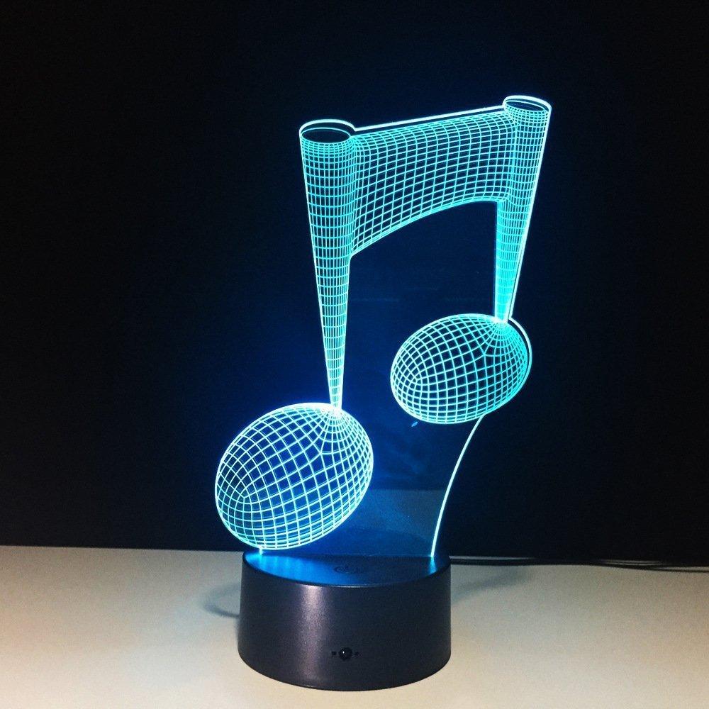 Acrylic Eighth Notes LED Lamp
