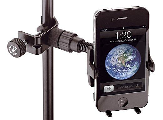 Konig & Meyer Smartphone Holder for Microphone Stand