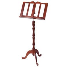 Music Stand - Wood - Semi Ornate in Cherry or Oak