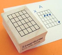 Rubber Chord Stamps - 6 Strings and 5 Frets