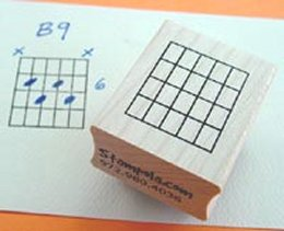 Rubber Chord Stamps - 6 Strings and 4 Frets