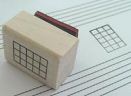 Rubber Chord Stamps - 4 Strings and 5 Frets -  Mini Size