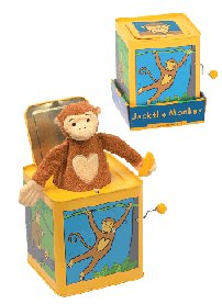 Musical Monkey Jack In The Box