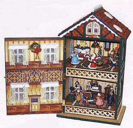 Christmas house animated musical large for Christmas house music